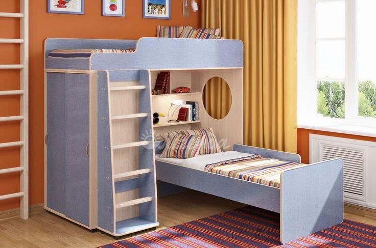 детская Легенда-5 комплектация №5 угловая двухъярусная кровать