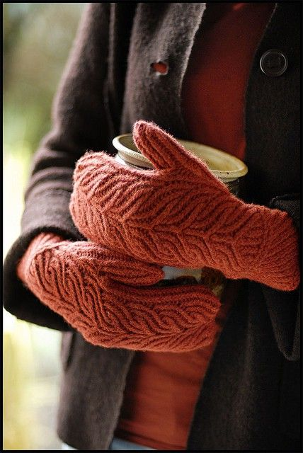 a pair of fantastic mittens and something hot to drink..paradise..