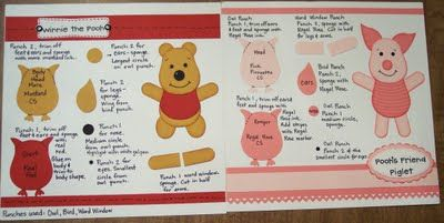 Winnie the pooh and piglet punch art - using the owl punch, very clever