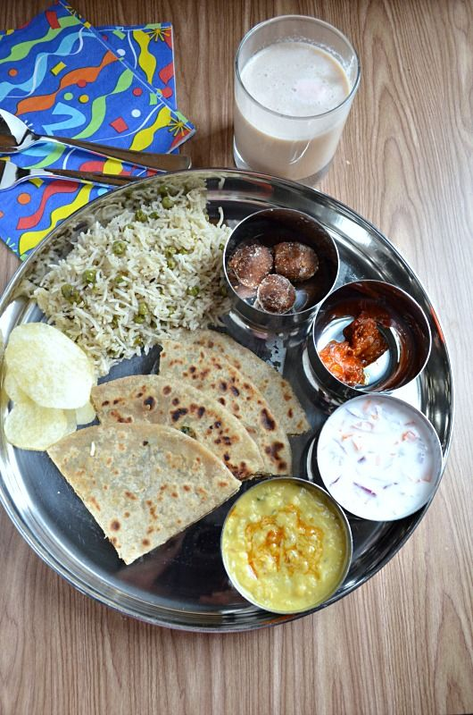 Simple North Indian Thali-