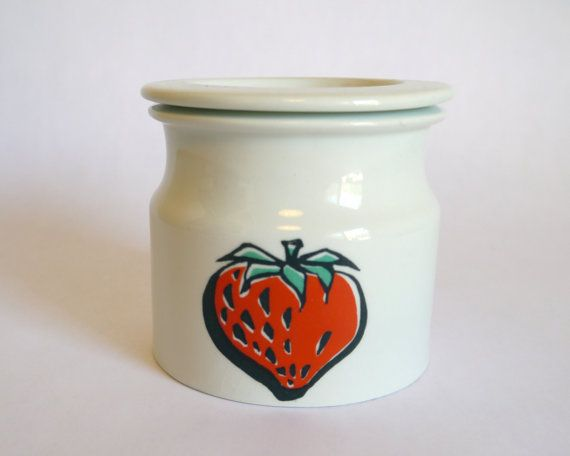 Arabia Finland Pomona Jam Jar  Strawberry by TheThriftyScout, $36.00