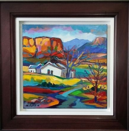 "NEW ART ARRIVALS !!! Isabel Le Roux ""Golden Gate"" 2015 50cm x 50cm  framed size 76cm x76cm  oil on stretched canvas Framed"