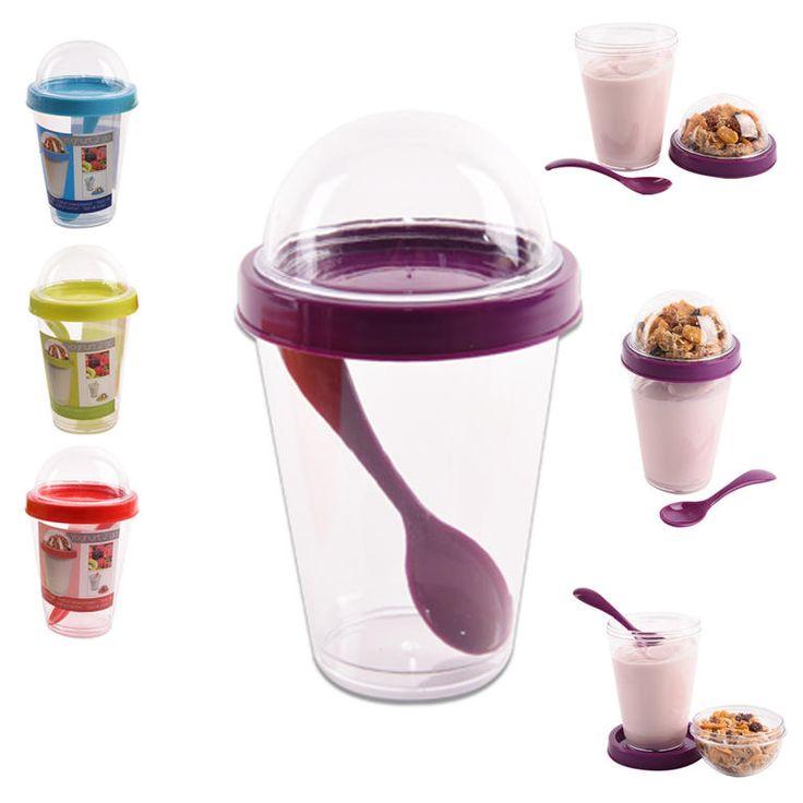Pohár na jogurt s víčkem - praktické využití snadná údržba Také občas řešíte problém, do čeho umístit jogurt s oblíbeným müsli tak, aby jste je nemuseli dát dohromady a müsli se Vám nerozmáčelo Tento