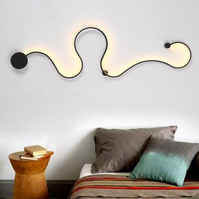 Moderne Minimalistischen Kreative Wand Lampe Schwarz Weiss Led
