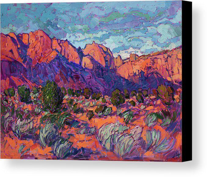 Kayenta Sands Canvas Print Canvas Art By Erin Hanson In 2021 Fine Art Prints Artists Painting Art