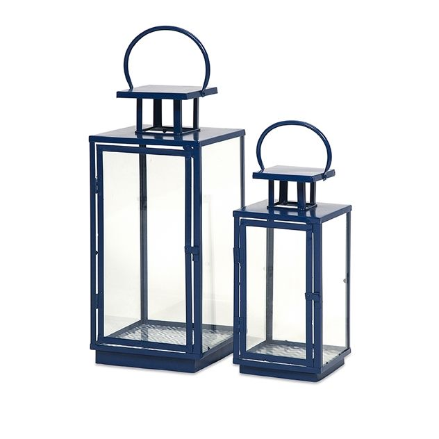Essentials Marine Blue Lanterns Set Of