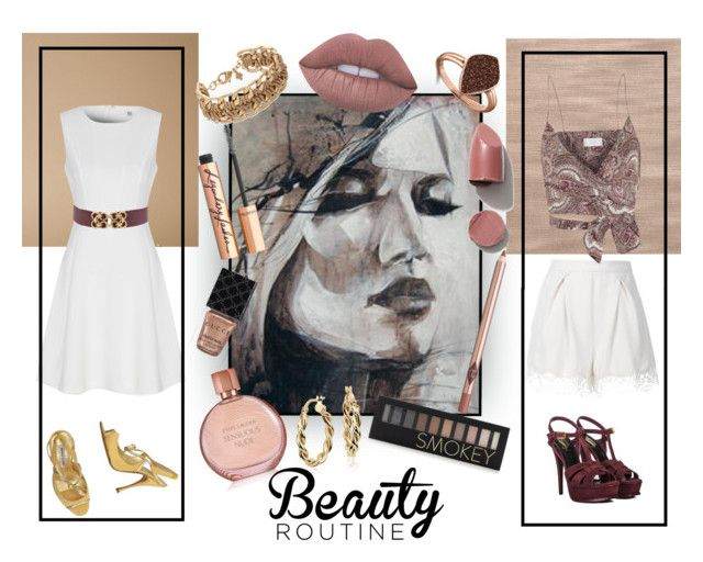 """Два комплекта для девушки с портрета ( Two looks for the girl from the picture)"" by kseniz13 ❤ liked on Polyvore featuring Zimmermann, True Decadence, Lime Crime, Charlotte Tilbury, Forever 21, Gucci, Estée Lauder, H.AZEEM, Blue Nile and Yves Saint Laurent"