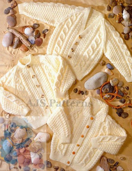 PDF Knitting Pattern for Aran Cardigans to fit by TheKnittingSheep