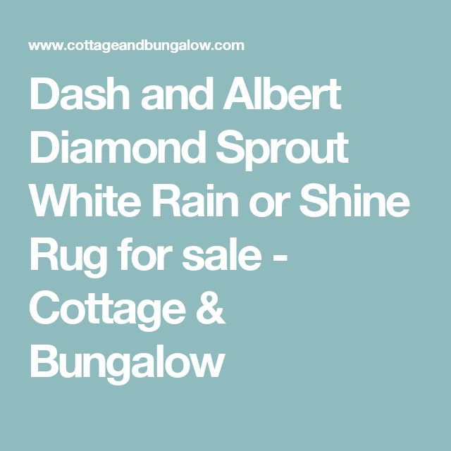 Dash and Albert Diamond Sprout White Rain or Shine Rug for sale - Cottage & Bungalow