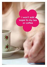 I won't add sugar to my tea or coffee @BupaAustralia #health #pledge #sugarfree #diet