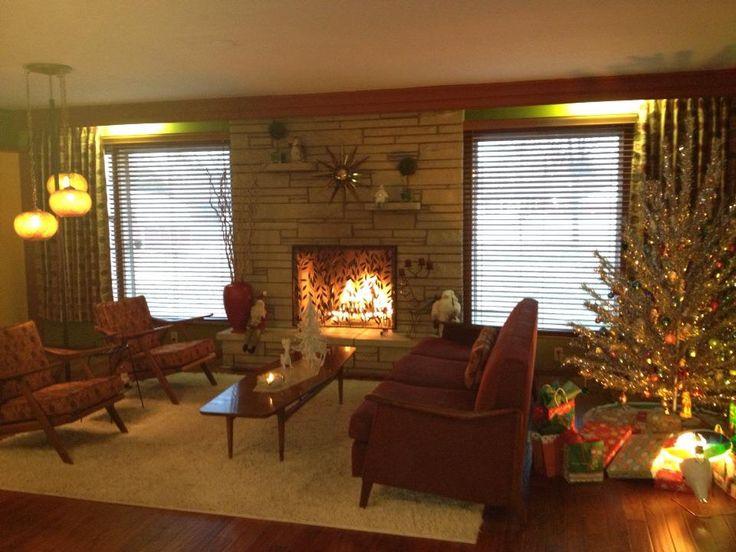 Modern Scandinavian Fireplace: Kitschy Goodness & Vintage Images On