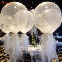 Home | 10pcs 36'' Jumbo Large Round Latex Balloons Transparent Clear Giant Wedding Balloons (Size: 16inch, Color: Transparent)