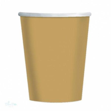 Papír Parti Pohár Arany- 270 ml, 8 Db-os