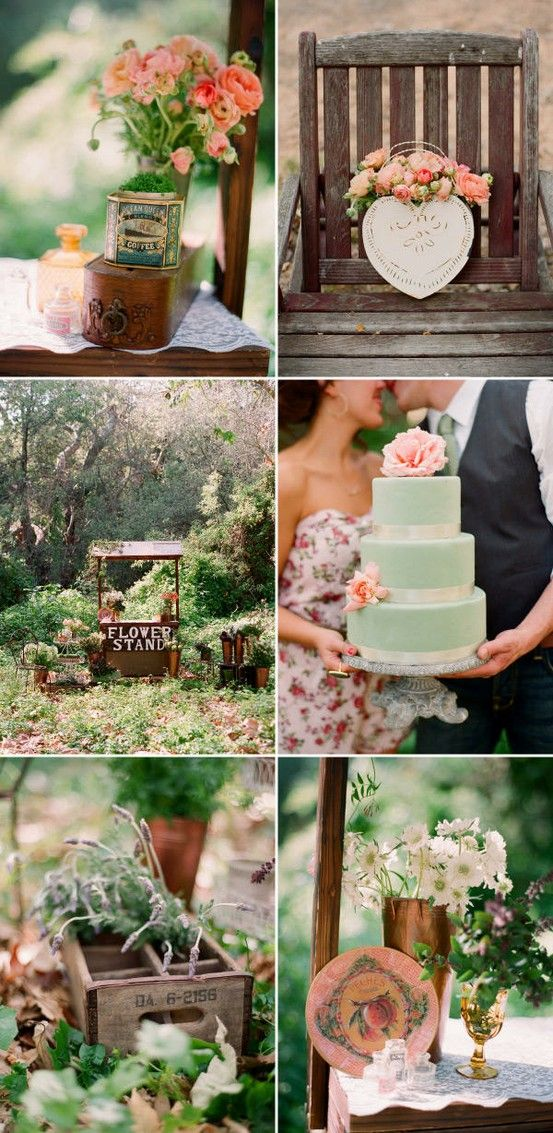 colors with aged wood...not wedding idea...like similar color combos for kitchen.... sage to gray green with salmon to shades of orange