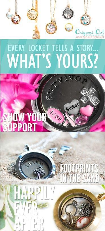 Origami Owl Lockets tell a story - What is your story? Origami Owl Living Locket - Personalize yours today