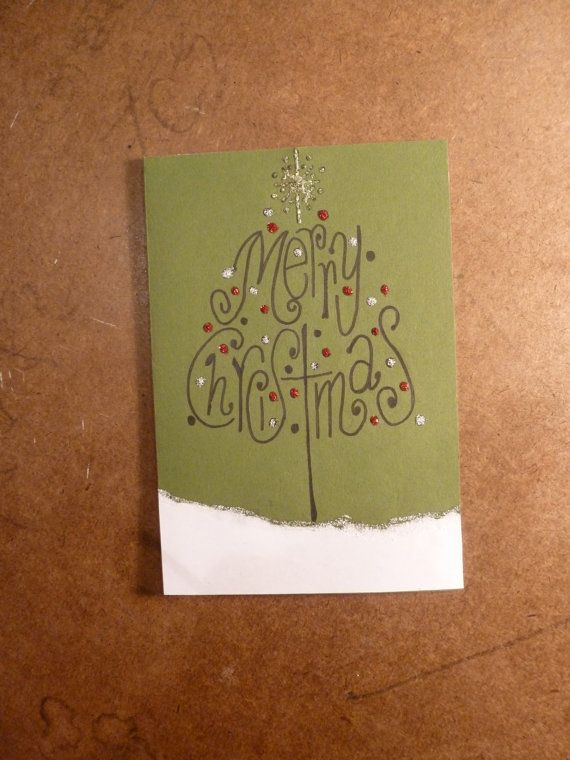 Christmas Card // Handmade Holiday Tree Card by KaeLilyBoutique
