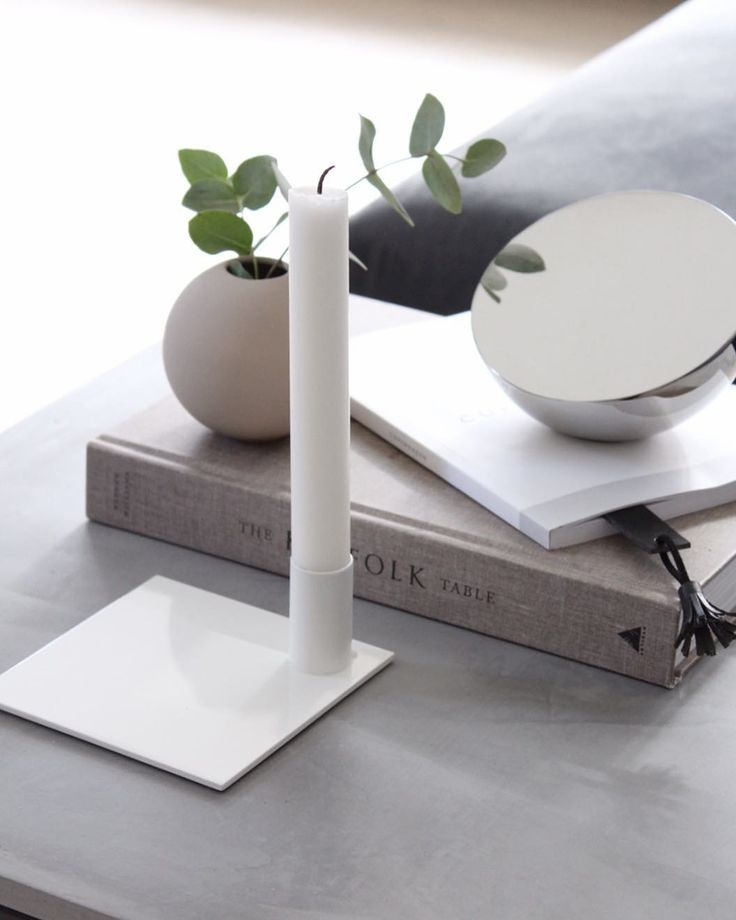 Square Candle Holder White in the home of @carlasofiemolge