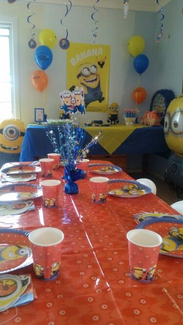 My son's Minion Birthday Party. Items created & supplied by Shoalhaven Kids Parties.