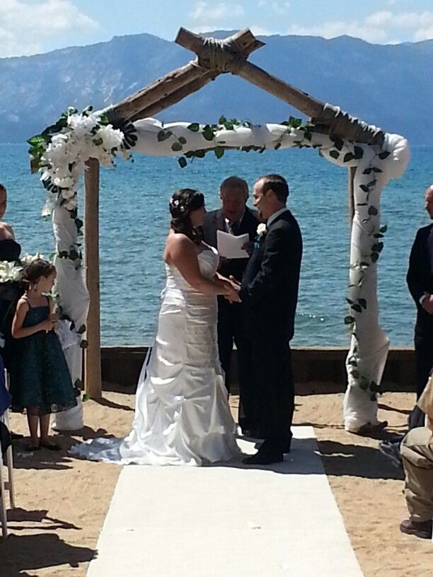 Lakeside Beach Wedding Ceremony By At Tahoe Weddings And Special Events 8 24 14