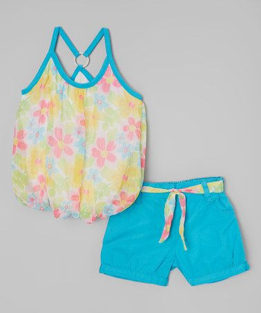 This Blue Bubble Tank & Shorts - Infant, Toddler & Girls by Dollhouse is perfect! #zulilyfinds