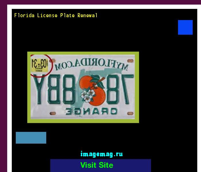 Florida license plate renewal 141556 - The Best Image Search