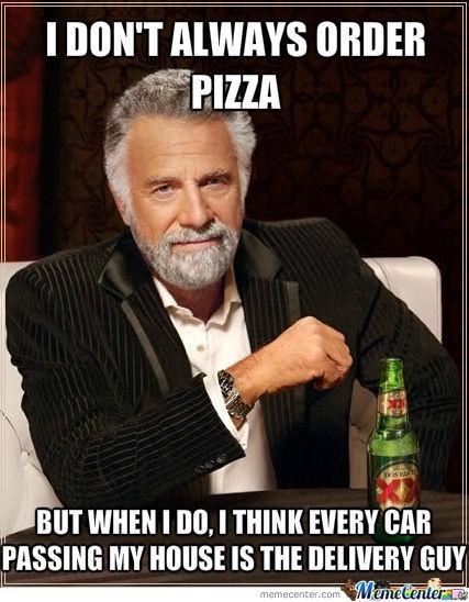 Ordering Pizza Meme | Slapcaption.com