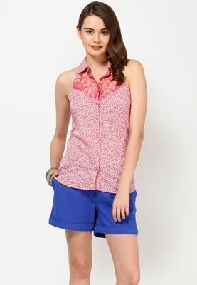 Sleeve Less Printed Pink Top Price: Rs 799