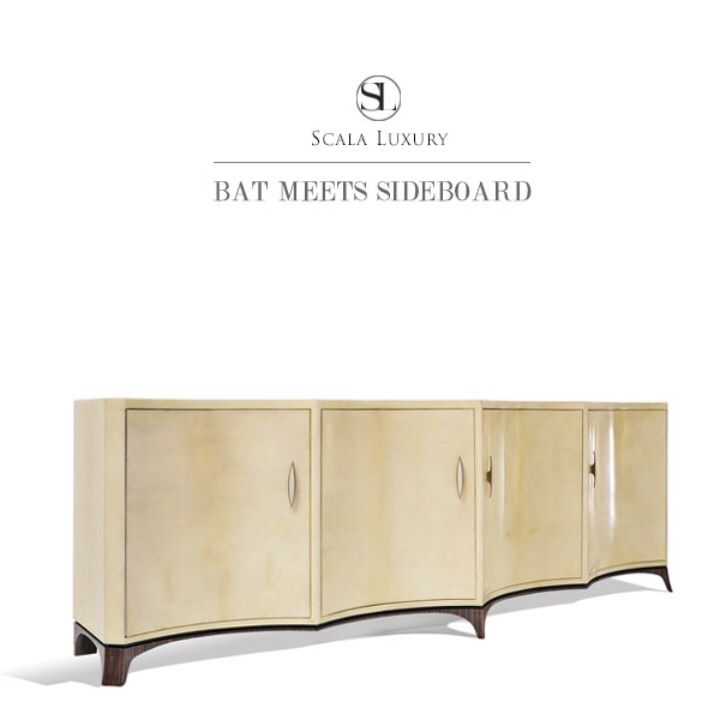 luxury wooden furniture storage. Scala Luxury Vespertilio Sideboard In Goatskin And Ebony Wooden Furniture Storage M