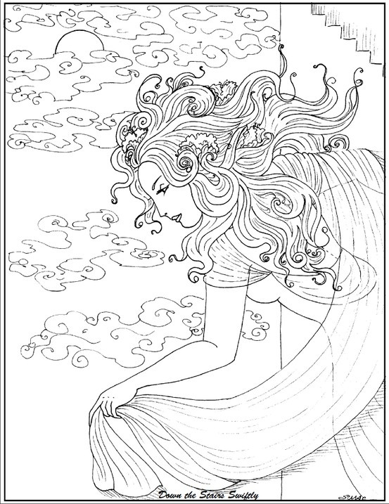 art nouveau coloring pages - photo#22