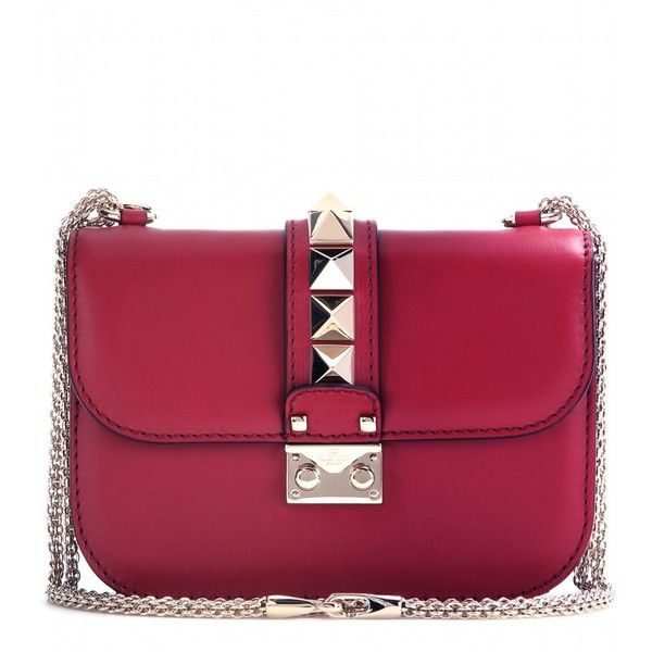 Valentino Lock Small Leather Shoulder Bag found on Polyvore