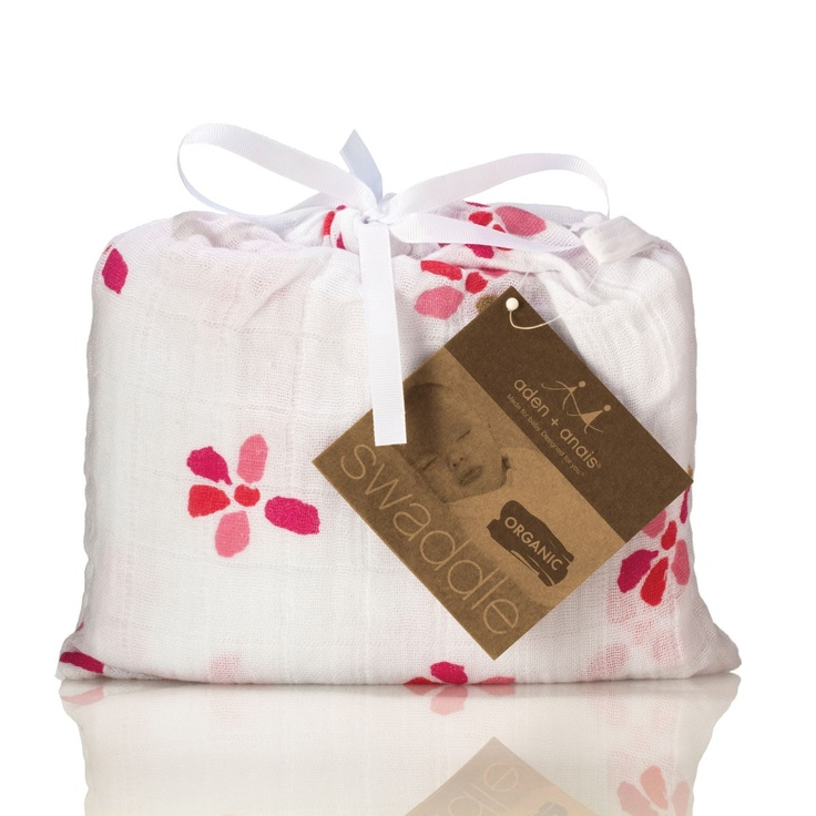 An organic swaddle in bloom for your baby girl.
