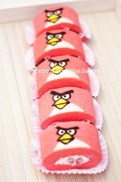 paint roll cake::: no recipe angry bird  https://www.facebook.com/pages/CAB-Foods/211599195554664