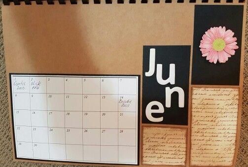 June perpetual calendar
