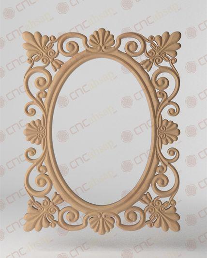 Cnc Kesim Ayna Çerçevesi - Cnc Cutting Mirror Frame www.cncahsap.net