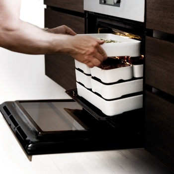 Stackable Oven to Table Cookware, genius! starts at $49