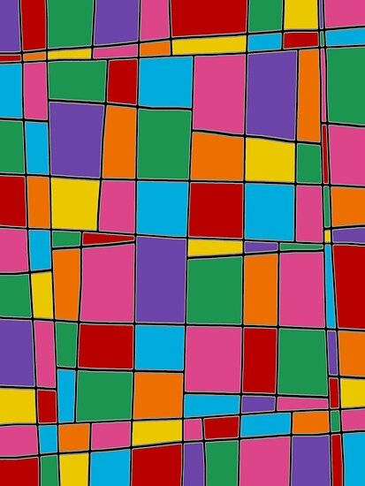 Here's an example of colour (also line and shape/form)