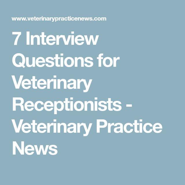 Best  Veterinary Receptionist Ideas On   Vet