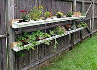 garden ideas gutter upcycle backyard update, gardening