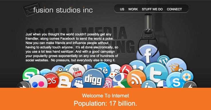 Social Media Marketing page, Fusion Studios.