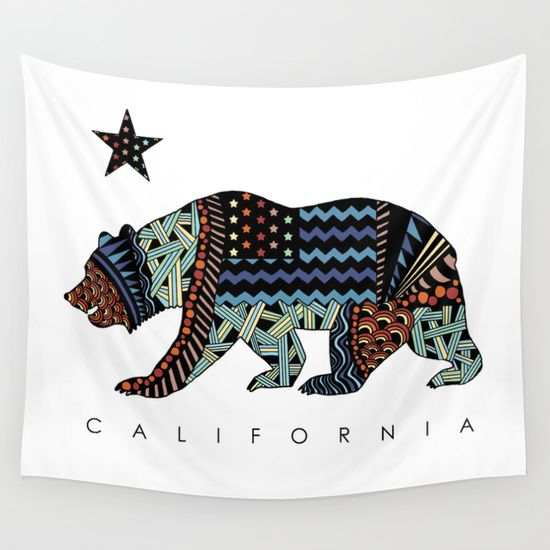 Buy California Wall Tapestry by TAM ♡. Worldwide shipping available at Society6.com. Just one of millions of high quality products available.