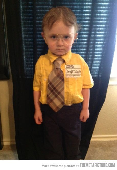 tiny Dwight Schrute…I can see this in our future!