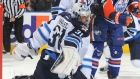 Feb.13 2016 - Wpg.2 (SO) - EDM.1 -Andrew Ladd scored the shootout winner as the Winnipeg Jets came away with a 2-1 victory over the Edmonton Oilers on Saturday. Winnipeg goaltender Ondrej Pavelec made his first start since Nov. 2 after missing 33 games with a knee injury.