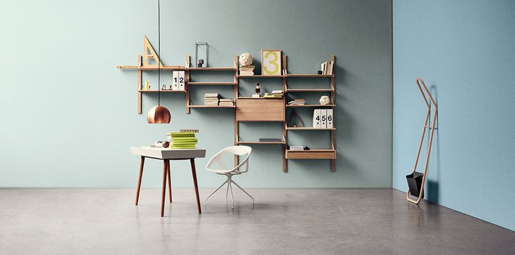 Bolia - bookcase, Strap reol - Design by Tine Ottesen Stride
