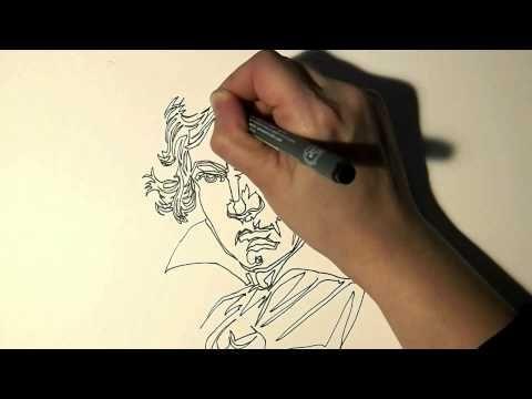 Single line Art Project - Ludwig van Beethoven