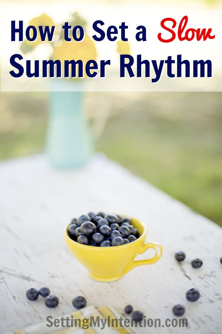The kids are getting out of school in 2 weeks! Summer is a welcome change of pace in our house, but we've found that we need to plan daily and weekly activities in order to keep us from turning into sloths! Here's how we are setting a slow and sane summer rhythm for our household and how you can too!