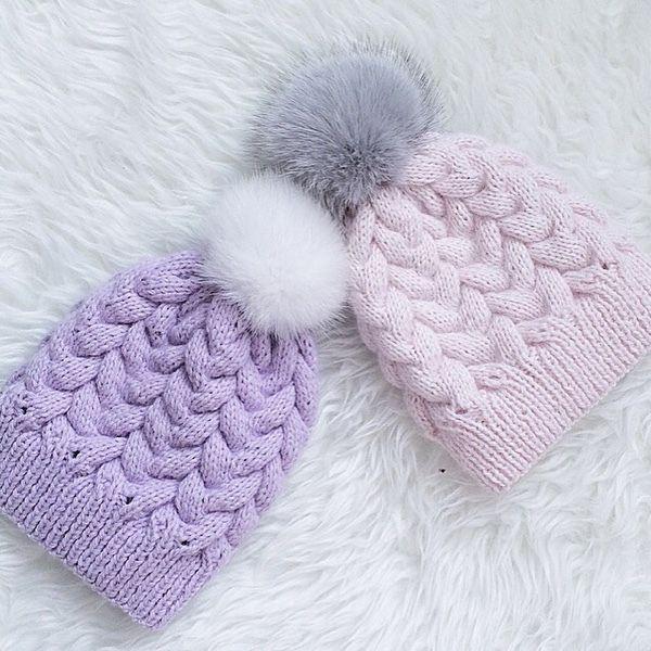 Купить Зимняя шапочка из пуха норки - пух норки, пух козы, шапка, зимняя шапочка