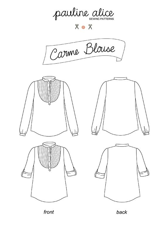 blouse Carme : Pauline Alice Variations: dress, short sleeve, sans sleeves, shortend neckline, maybe lace -playing around a little