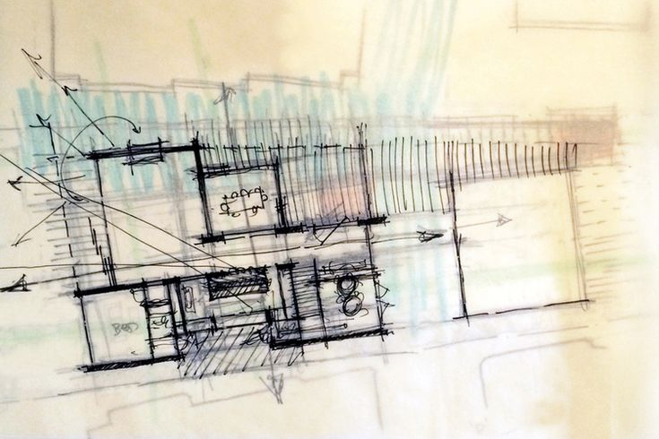 Laguna Beach floor plan sketch | spatial adjacencies #floorplan  #drawing