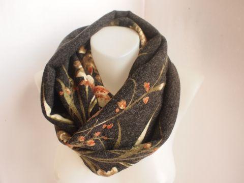 CimoCumo -  Szürke alapon virágos csősál, körsál, kámzsasál Ruha, divat, Kendő, sál, #fall #fashion