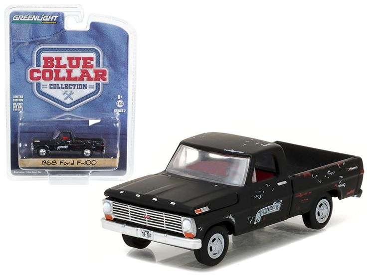 1968 Ford F-100 Pickup Truck Tupelo Grease 1/64 Diecast Model Car by Greenlight - Brand new 1:64 scale car model of 1968 Ford F-100 Pickup Truck Tupelo Grease die cast model car by Greenlight. Limited Edition. Has Rubber Tires. Comes in a blister pack. Detailed Interior, Exterior. Metal Body and Chassis. Officially Licensed Product. Dimensions Approximately L-3 Inches Long.-Weight: 1. Height: 5. Width: 9. Box Weight: 1. Box Width: 9. Box Height: 5. Box Depth: 5